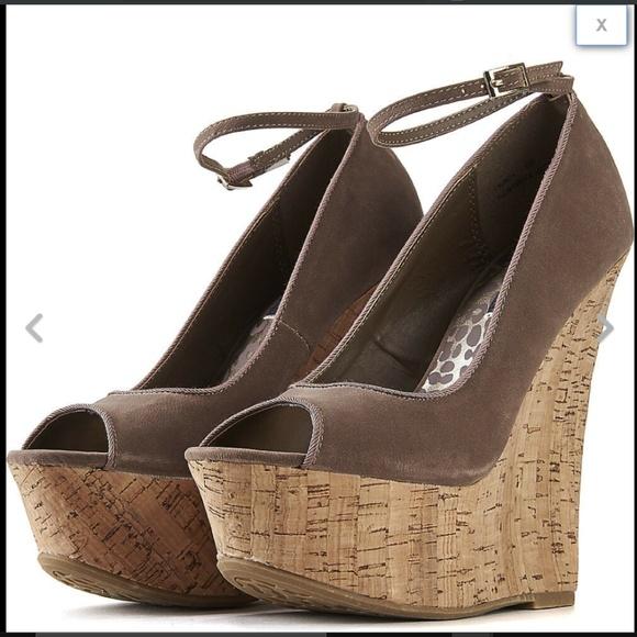 Ladies Womens Cork Wedge Platforms Studded Heel Ankle Straps Coral Black Fuchsia